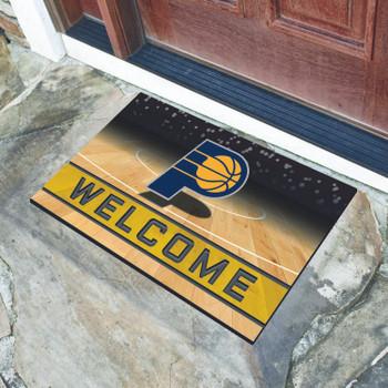 "18"" x 30"" Indiana Pacers Blue Crumb Rubber Door Mat"