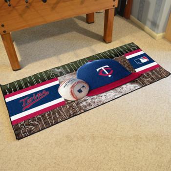"""30"""" x 72"""" Minnesota Twins Baseball Style Rectangle Runner Mat"""