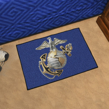 """19"""" x 30"""" U.S. Marines Blue Rectangle Starter Mat"""