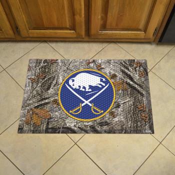 "19"" x 30"" Buffalo Sabres Rectangle Camo Scraper Mat"