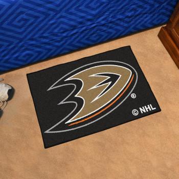 """19"""" x 30"""" Anaheim Ducks Black Rectangle Starter Mat"""