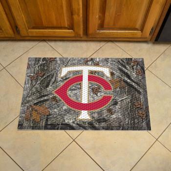 "19"" x 30"" Minnesota Twins Rectangle Camo Scraper Mat"