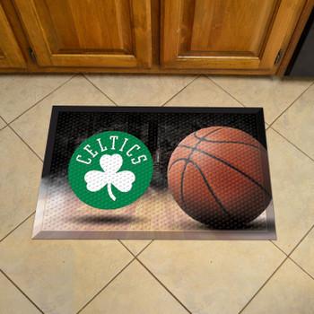 "19"" x 30"" Boston Celtics Rectangle Photo Scraper Mat"