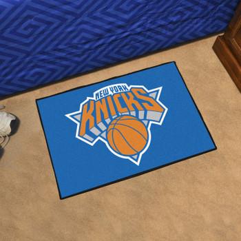"""19"""" x 30"""" New York Knicks Blue Rectangle Starter Mat"""