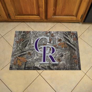 """19"""" x 30"""" Colorado Rockies Rectangle Camo Scraper Mat"""