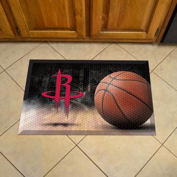 "19"" x 30"" Houston Rockets Rectangle Photo Scraper Mat"