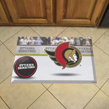 """19"""" x 30"""" Ottawa Senators Rectangle Photo Scraper Mat"""