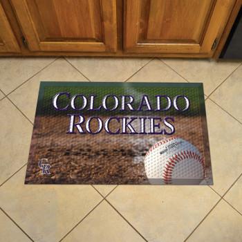 """19"""" x 30"""" Colorado Rockies Rectangle Photo Scraper Mat"""