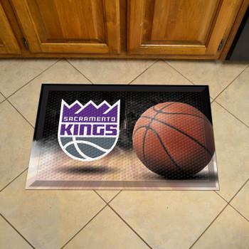 "19"" x 30"" Sacramento Kings Rectangle Photo Scraper Mat"