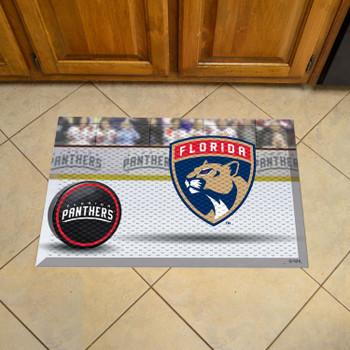 """19"""" x 30"""" Florida Panthers Rectangle Photo Scraper Mat"""