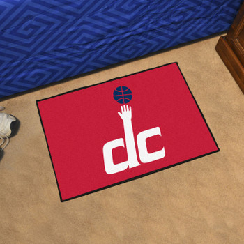 "19"" x 30"" Washington Wizards Red Rectangle Starter Mat"