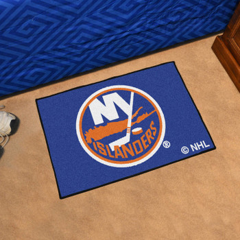 "19"" x 30"" New York Islanders Blue Rectangle Starter Mat"