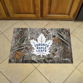 "19"" x 30"" Toronto Maple Leafs Rectangle Camo Scraper Mat"