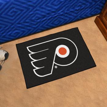 """19"""" x 30"""" Philadelphia Flyers Black Rectangle Starter Mat"""