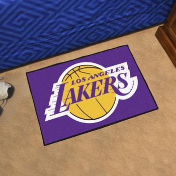 "19"" x 30"" Los Angeles Lakers Purple Rectangle Starter Mat"