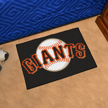 "19"" x 30"" San Francisco Giants Black Rectangle Starter Mat"