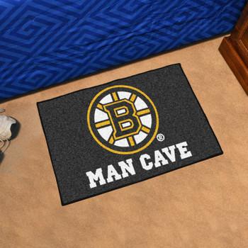 "19"" x 30"" Boston Bruins Man Cave Starter Black Rectangle Mat"