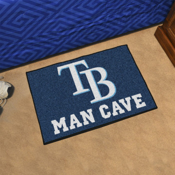 "19"" x 30"" Tampa Bay Rays Man Cave Starter Navy Rectangle Mat"