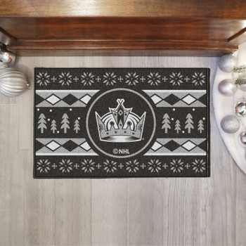 """19"""" x 30"""" Los Angeles Kings Holiday Sweater Black Starter Mat"""