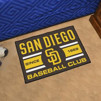"19"" x 30"" San Diego Padres Uniform Navy Rectangle Starter Mat"