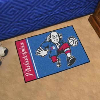 "19"" x 30"" Philadelphia 76ers Uniform Blue Rectangle Starter Mat"