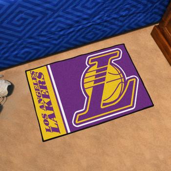 "19"" x 30"" Los Angeles Lakers Uniform Purple Rectangle Starter Mat"