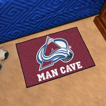 "19"" x 30"" Colorado Avalanche Man Cave Starter Maroon Rectangle Mat"