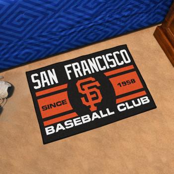 "19"" x 30"" San Francisco Giants Uniform Black Rectangle Starter Mat"
