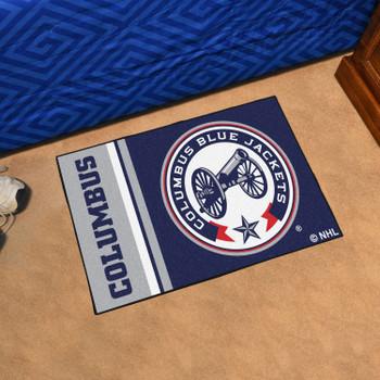 """19"""" x 30"""" Columbus Blue Jackets Uniform Navy Rectangle Starter Mat"""