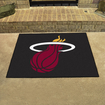 "33.75"" x 42.5"" Miami Heat All Star Black Rectangle Rug"