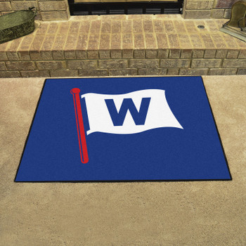 """33.75"""" x 42.5"""" Chicago Cubs All Star Blue Rectangle Rug"""