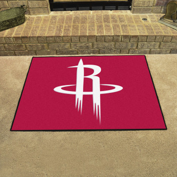 """33.75"""" x 42.5"""" Houston Rockets All Star Red Rectangle Rug"""