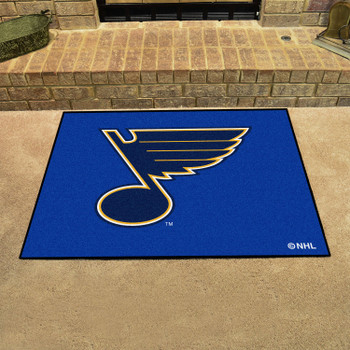 """33.75"""" x 42.5"""" St. Louis Blues All Star Navy Rectangle Rug"""