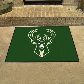 "33.75"" x 42.5"" Milwaukee Bucks All Star Green Rectangle Rug"