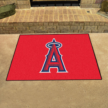 """33.75"""" x 42.5"""" Los Angeles Angels All Star Red Rectangle Rug"""