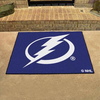 "33.75"" x 42.5"" Tampa Bay Lightning All Star Blue Rectangle Rug"
