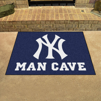 "33.75"" x 42.5"" New York Yankees Man Cave All-Star Navy Rectangle Mat"