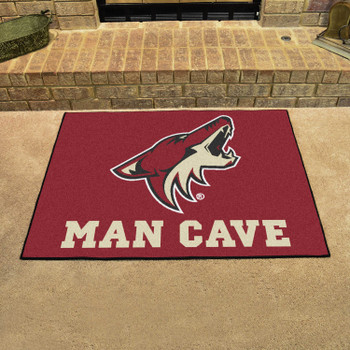 "33.75"" x 42.5"" Arizona Coyotes Man Cave All-Star Maroon Rectangle Mat"