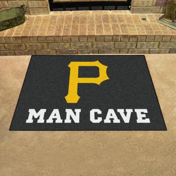 "33.75"" x 42.5"" Pittsburgh Pirates Man Cave All-Star Black Rectangle Mat"