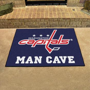 "33.75"" x 42.5"" Washington Capitals Man Cave All-Star Navy Rectangle Mat"