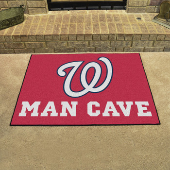 """33.75"""" x 42.5"""" Washington Nationals Man Cave All-Star Red Rectangle Mat"""