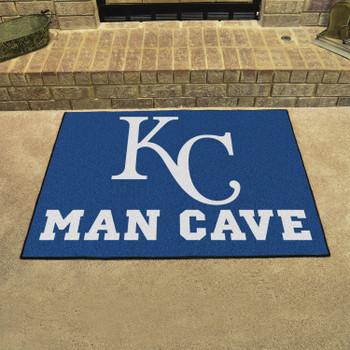 "33.75"" x 42.5"" Kansas City Royals Man Cave All-Star Blue Rectangle Mat"