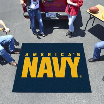 """59.5"""" x 71"""" U.S. Navy Blue Tailgater Mat"""
