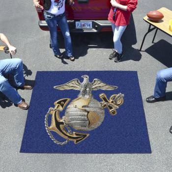 """59.5"""" x 71"""" U.S. Marines Blue Tailgater Mat"""