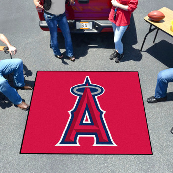 """59.5"""" x 71"""" Los Angeles Angels Red Tailgater Mat"""