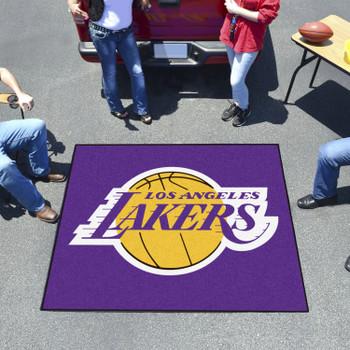 "59.5"" x 71"" Los Angeles Lakers Purple Tailgater Mat"