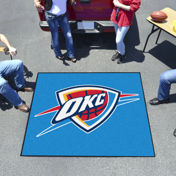 "59.5"" x 71"" Oklahoma City Thunder Blue Tailgater Mat"