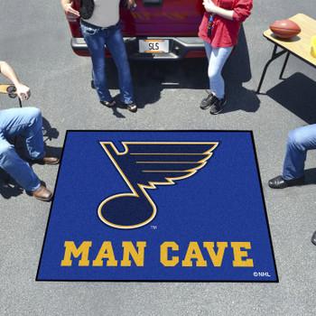 "59.5"" x 71"" St. Louis Blues Man Cave Tailgater Navy Rectangle Mat"