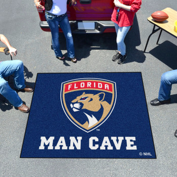 """59.5"""" x 71"""" Florida Panthers Man Cave Tailgater Blue Rectangle Mat"""