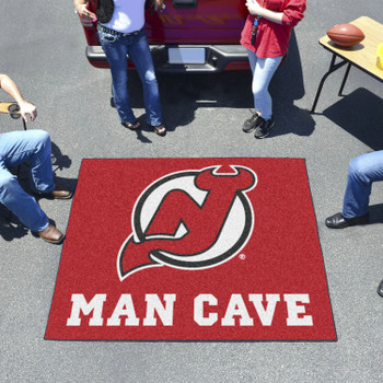 """59.5"""" x 71"""" New Jersey Devils Man Cave Tailgater Red Rectangle Mat"""